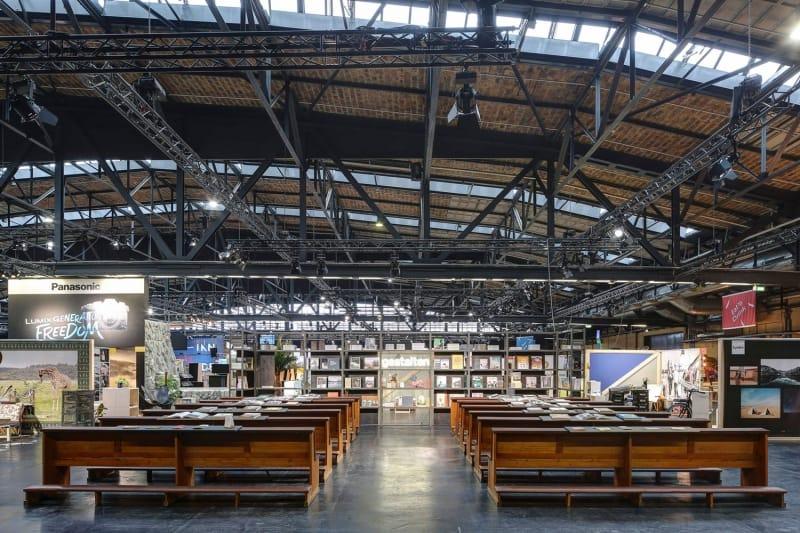 Event Konzept, Messebau von Thies Wulf fuer Gestalten Verlag und Berlin Travel Festival
