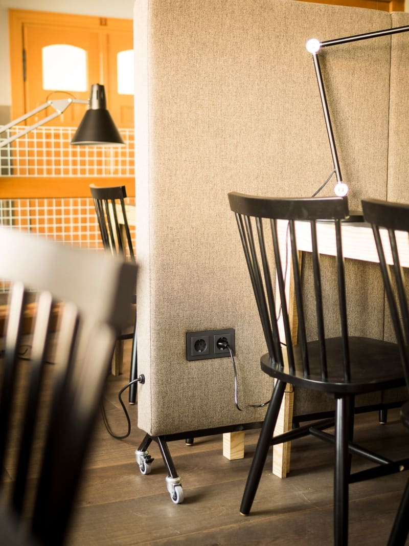 Coworking, Office Interiordesign von Tonia Welter für Coworking Oderbruch
