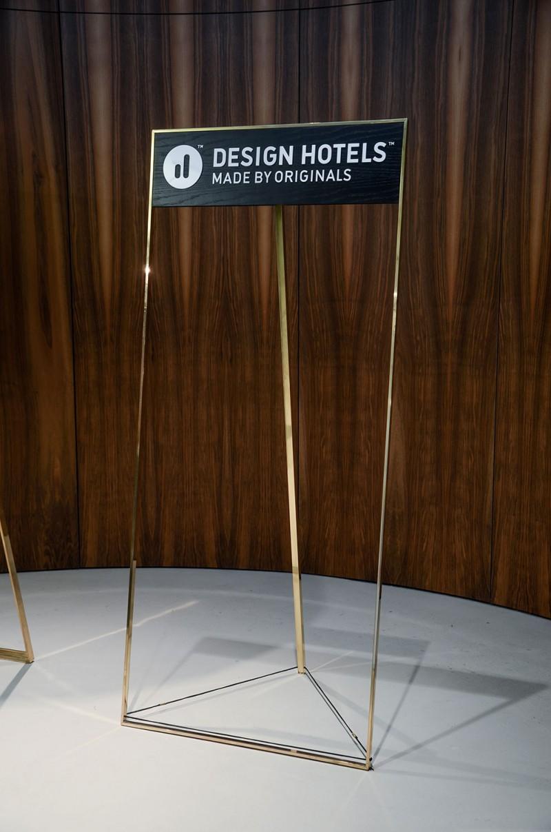 Ausstellungsdisplay von Thies Wulf für Design Hotels AG