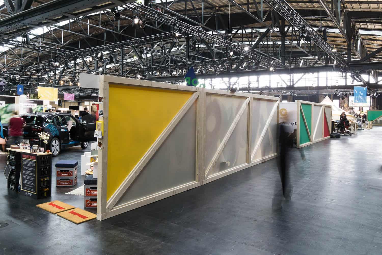 muesiemue Interiordesign, Event Design und Messebau, Trennwand, Funktion und Design von handwerkplusdesign und Thies Wulf für Berlin Travel Festival