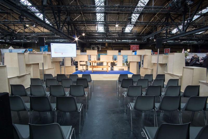 muesiemue Interiordesign, Event Design und Messebau, Raum in Raum, Funktion und Design von handwerkplusdesign und Thies Wulf für Berlin Travel Festival