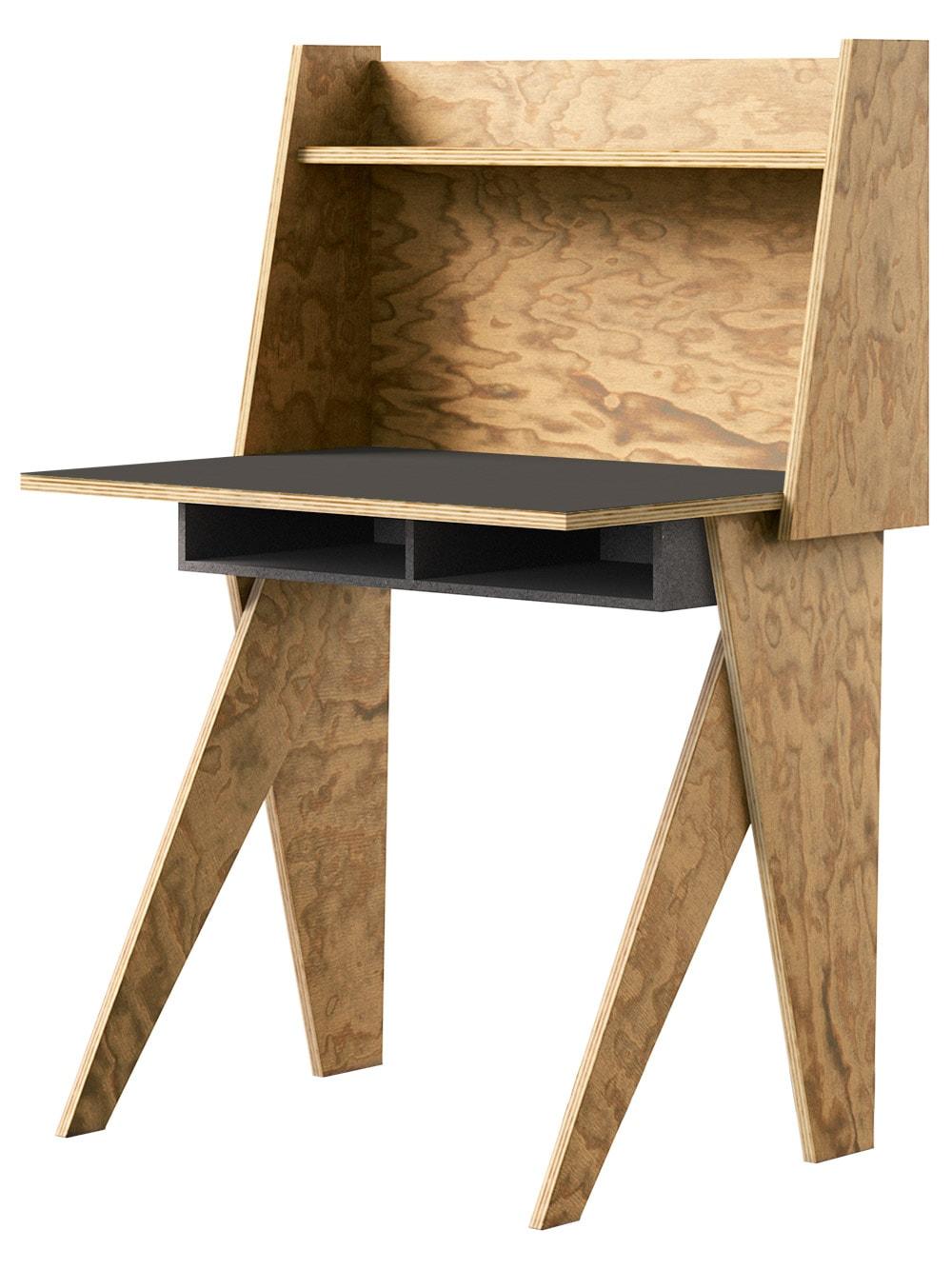 muesiemue Home Office Tisch von Tonia Welter, Tisch und Raumteiler elegant und kompakt vereint, in Seekiefer
