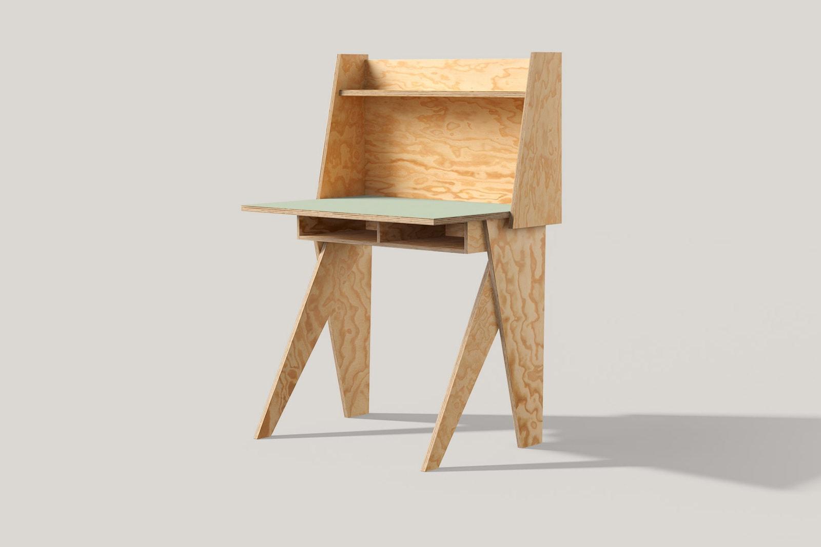 muesiemue Home Scholing Tisch von Tonia Welter, Tisch und Raumteiler elegant und kompakt vereint, in Seekiefer