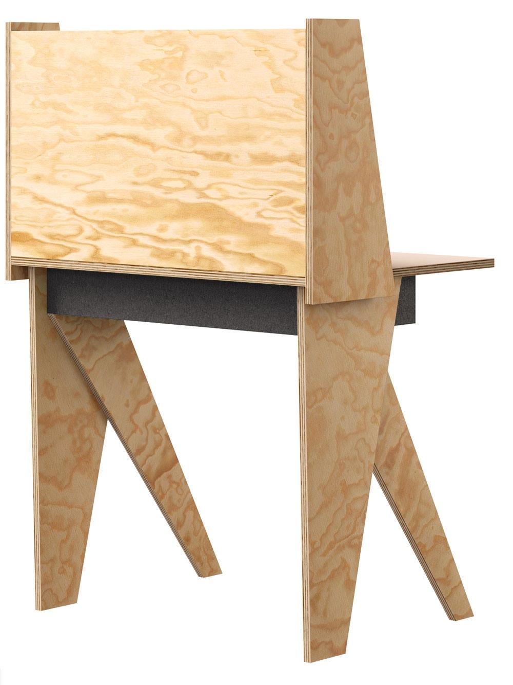 muesiemue Home Schooling Tisch von Tonia Welter, Tisch und Raumteiler elegant und kompakt vereint, in Seekiefer
